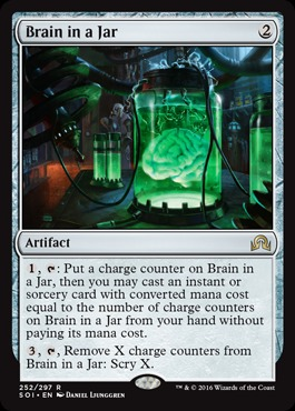 Thing In The Ice Brain In A Jar And Uw Rattlechains Channelfireball Magic The Gathering Strategy Singles Cards Decks Whenever you cast an instant or sorcery spell, remove an ice counter from thing in the ice. thing in the ice brain in a jar and