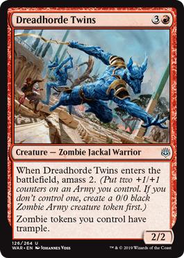 MTG Rare War of the Spark NM//M Dreadhorde Arcanist 125//264