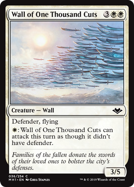 Wall of One Thousand Cuts