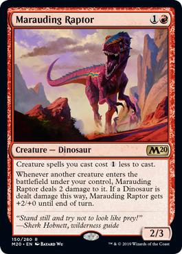 MtG Magic the Gathering r//g Dinosaur Deck