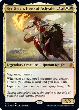 Knight Token FOIL X 1 Pack Fresh Throne Of Eldraine MTG