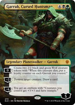 Garruk, Cursed Huntsman - Borderless