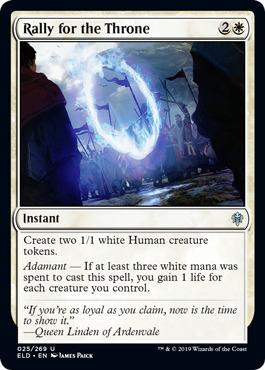 Throne of Eldraine The Steadfast Queen White Legendary Standard 4 x Linden