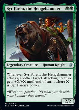 4x Syr Faren Throne of Eldraine Uncommon the Hengehammer NM