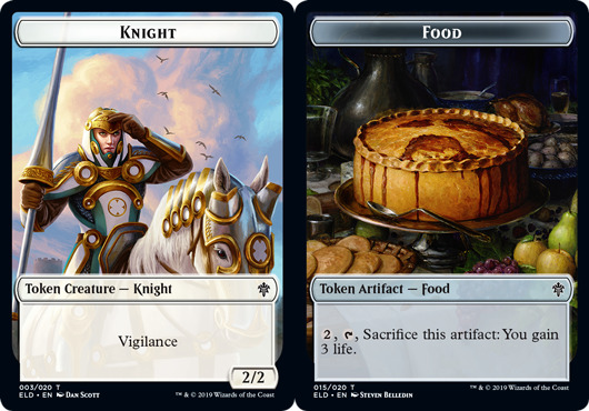 Knight Token // Food Token (015) - Foil